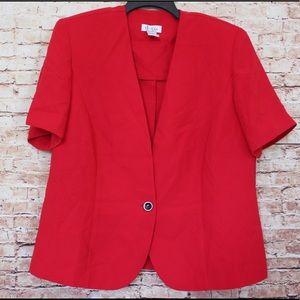 Denim & Company Single Button Vintage Style Blazer